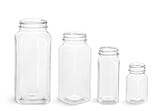 16 oz Clear PET Square Bottles (Bulk), Caps NOT included