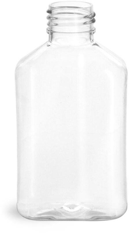 Clear PET Oblong Bottles (Bulk), Caps NOT Included