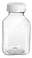 8 oz 8 oz Plastic Bottles, Clear PET Square Beverage Bottles w/ White Tamper Evident Caps