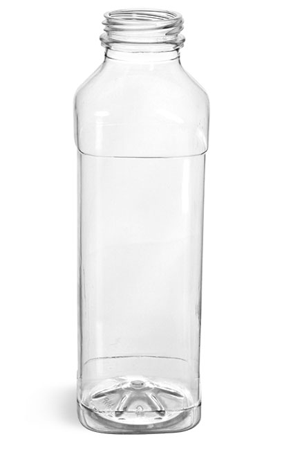 Clear PET Beverage Bottles