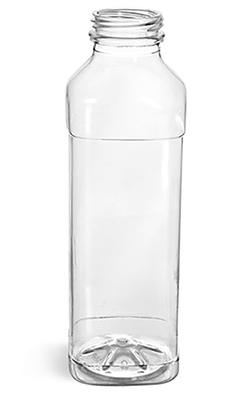Plastic Bottles, Clear PET Beverage Bottles