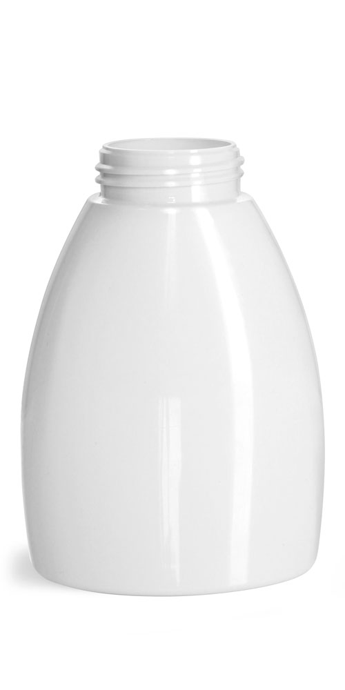 250 ml Plastic Bottles, White PET Foamer Bottles (Bulk), Caps Not Included