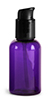 2 oz 2 oz  Purple PET Round Bottles w/ Black Treatment Pumps