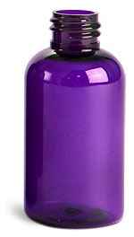 2 oz Purple PET Round Bottles (Bulk), Caps NOT Included