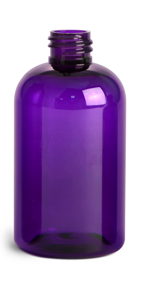4 oz Purple PET Round Bottles (Bulk), Caps NOT Included