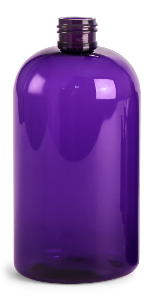 16 oz Purple PET Round Bottles (Bulk) Caps Not Included
