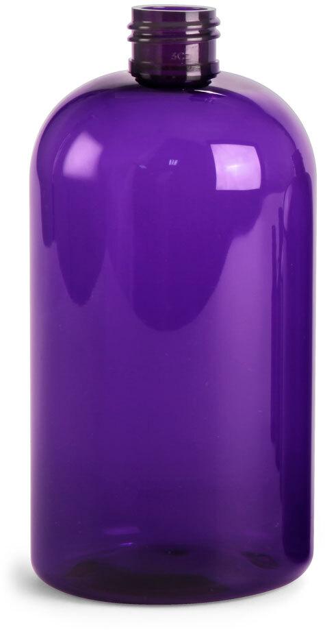 Purple PET Boston Round Bottles (Bulk) Caps Not Included
