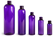 4 oz Purple PET Cosmo Round Bottles