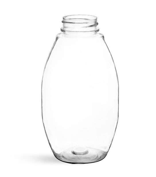 Plastic Bottles, Clear PET Inverted Ovals (Bulk) Caps NOT Included