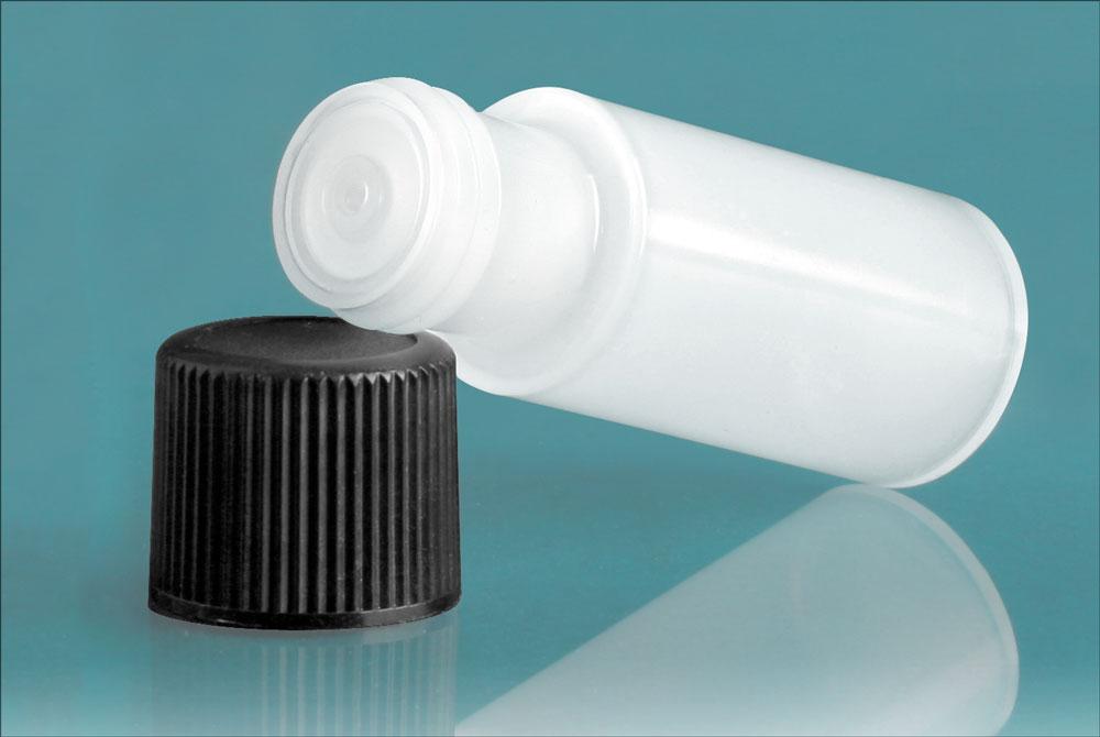 2 dram w/ Black Cap Natural Cylinder w/ Black Cap and Orifice Reducer