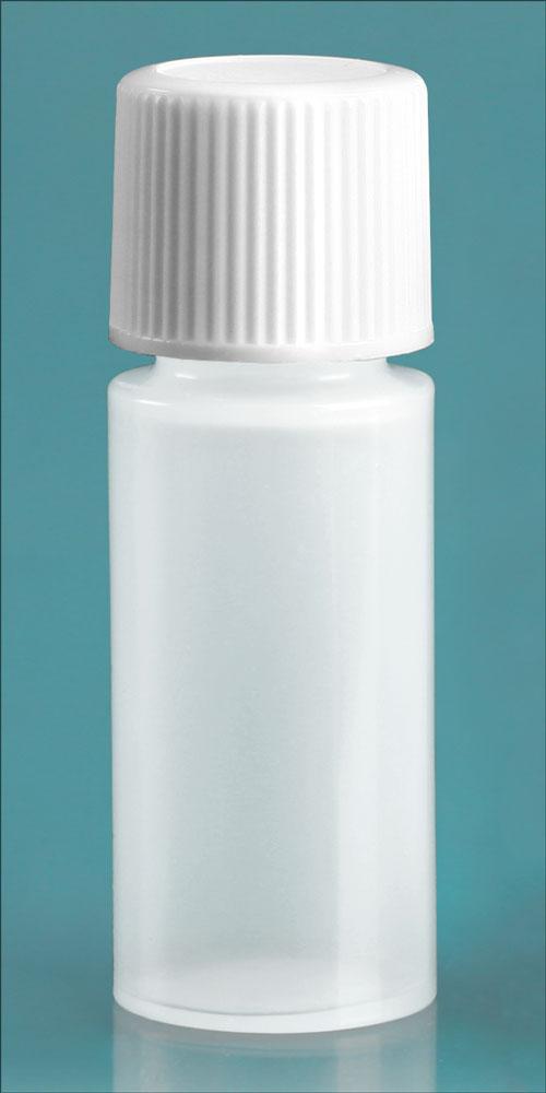 2 dram w/ White Cap Natural Cylinder w/ White Cap and Orifice Reducer