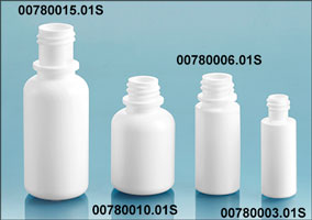 Plastic Bottles, White LDPE Dropper Bottles (Bulk), Caps NOT Included