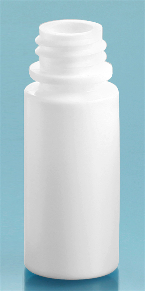6 cc White LDPE Dropper Bottles, (Bulk) Caps NOT Included