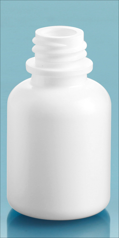 White LDPE Dropper Bottles, (Bulk) Caps NOT Included