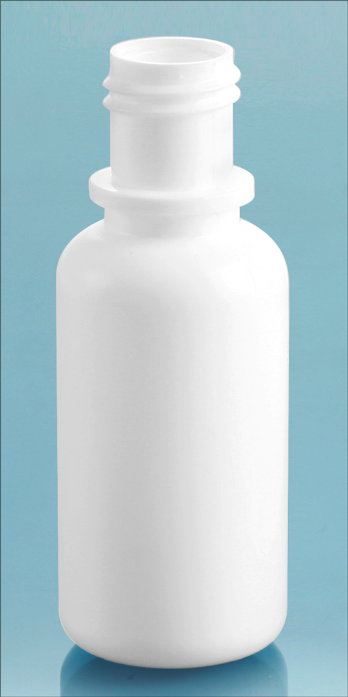 15 cc White LDPE Dropper Bottles, (Bulk) Caps NOT Included