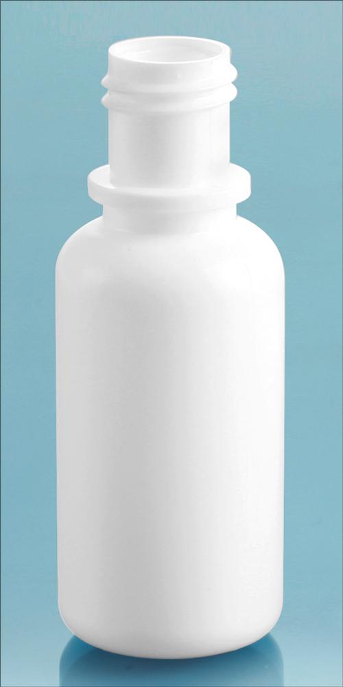 White LDPE Dropper Bottles, (Bulk) Caps NOT Included