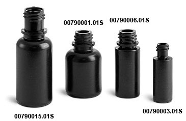 Black LDPE Dropper Bottles