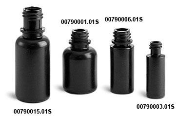 Plastic Bottles, Black LDPE Dropper Bottles