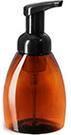 250 ml250 ml Plastic Bottles, Amber PET Bottles w/ Black Foamer Pumps