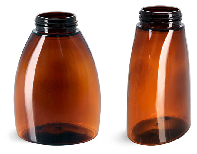 Plastic Bottles, Amber PET Foamer Bottles (Bulk), Caps Not Included