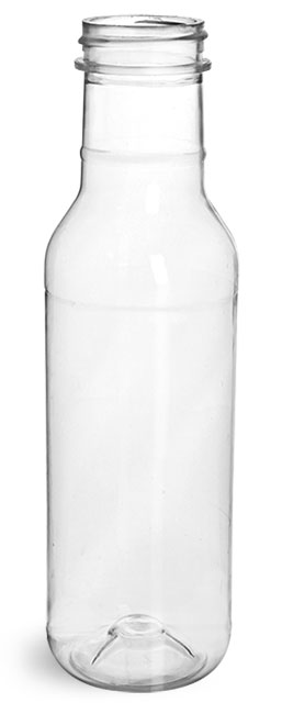 Clear PET Barbecue Sauce Bottles (Bulk) Caps NOT Included