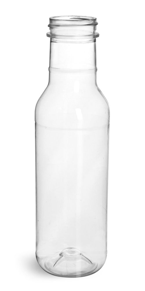 12 oz Clear PET Barbecue Sauce Bottles (Bulk) Caps NOT Included