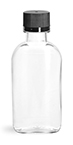 100 ml100 ml  Clear PET Flasks w/ Black Tamper Evident Caps