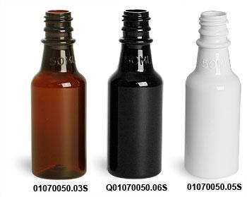 50 ml PET Round Liquor Style Bottles