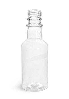 Clear PET Nip Bottles (Caps NOT Included)