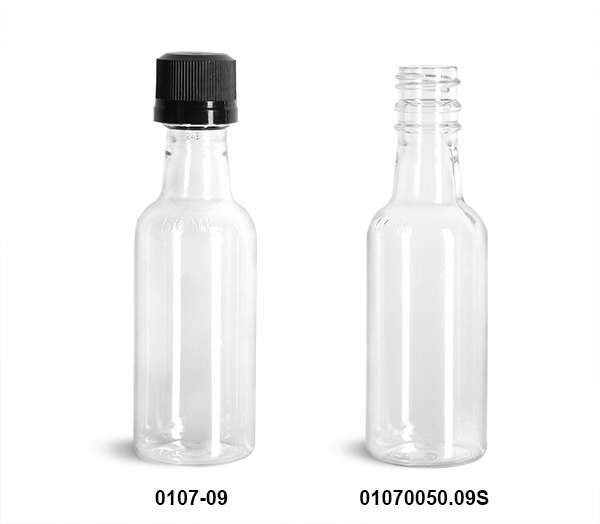 New Clear PET Nip Bottles