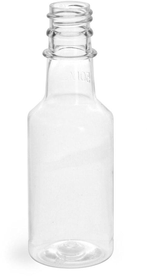 Clear PET Nip Bottles (Bulk), Caps NOT Included