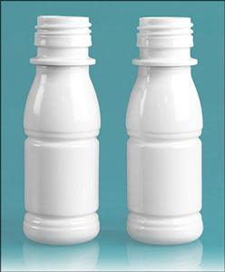 2.5 oz White PET Beverage Bottles