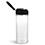 PET Plastic Bottles, Clear Spice Bottles w/ Black Pressure Sensitive Lined Caps