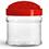 Plastic Jars, 10 oz Clear PET Spice Bottles w/ Red Pressure Sensitive Lined Caps
