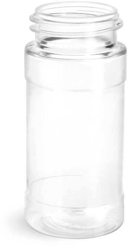Clear PET Spice Bottles (BULK), Caps NOT Included