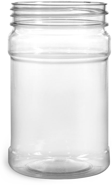 Food Jars, Clear PET Plastic Jars (Bulk), Caps NOT Included