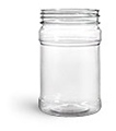 Food Jars, 10 oz Clear PET Plastic Jars (Bulk), Caps NOT Included
