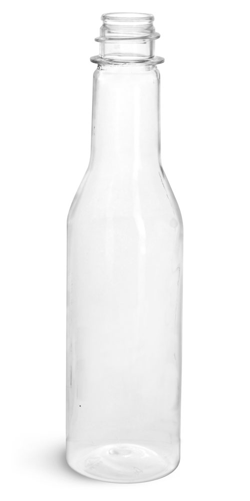 5 oz Clear PET Sauce Bottles