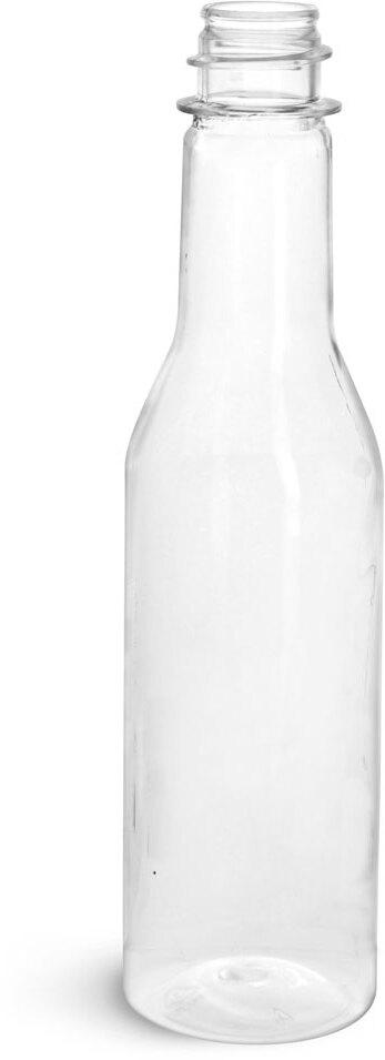 Clear PET Sauce Bottles