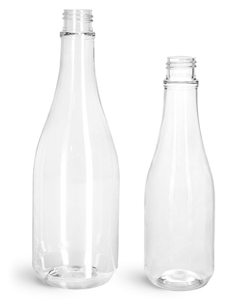 Clear PET Woozy Bottles (Bulk) Caps NOT Included