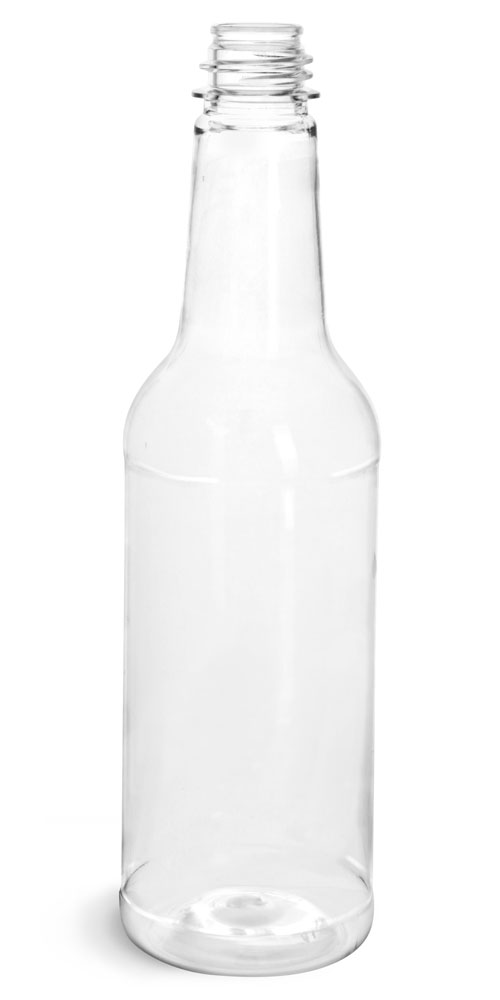 10 oz Clear PET Sauce Bottles