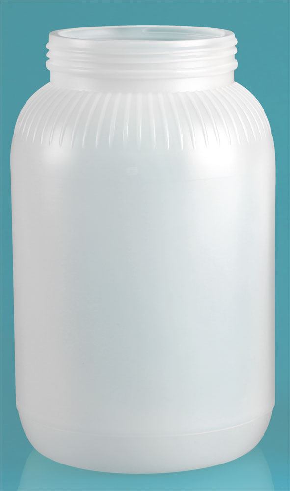 1 gal Natural HDPE Wide Mouth Bottle (Bulk, Caps not Included)