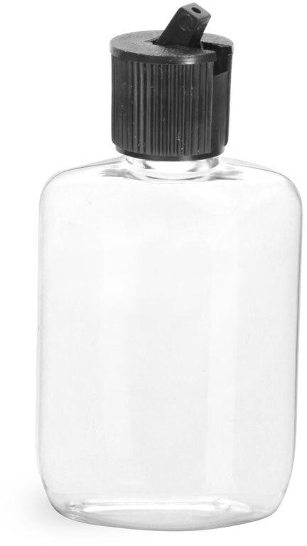 Clear PVC  Ovals w/ Black Spout Cap