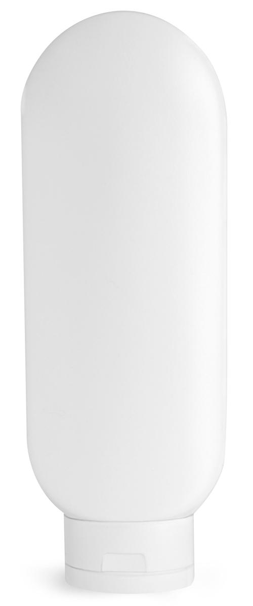 White HDPE Tottles w/ White Caps