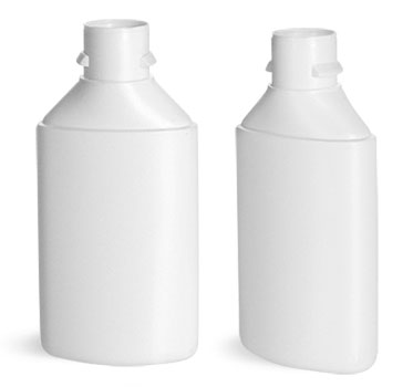 Plastic Bottles, White HDPE Square Bottom Tottles (Bulk), Caps NOT Included