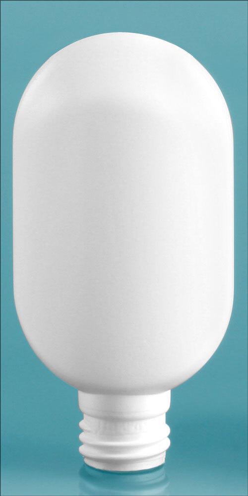 White Plastic Tube Bottles (Bulk), Caps NOT Included