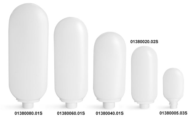 Plastic Bottles, White HDPE Tottles (Bulk), Caps NOT Included