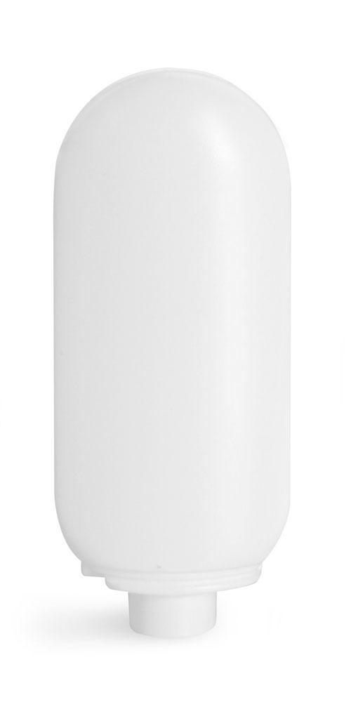 2 oz White HDPE Tottles (Bulk), Caps NOT Included