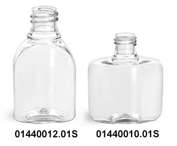 Clear PET Amenity Bottle (Bulk) Caps NOT Included