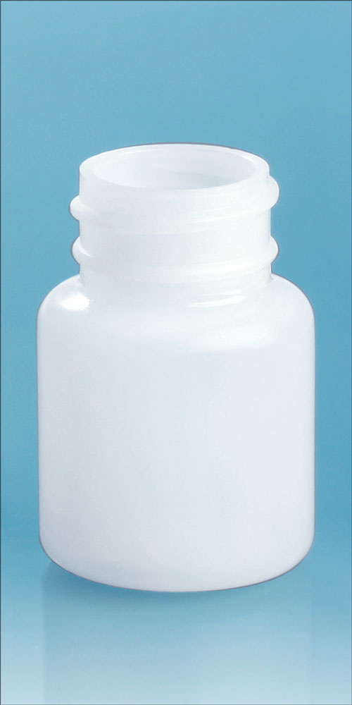 30 cc Natural HDPE Pharmaceutical Round (Bulk), Caps NOT Included
